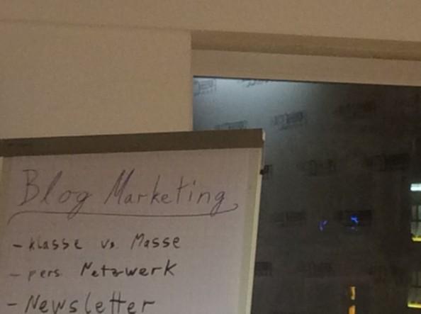 Auch Blogger machen sich Gedanken um Marketing…