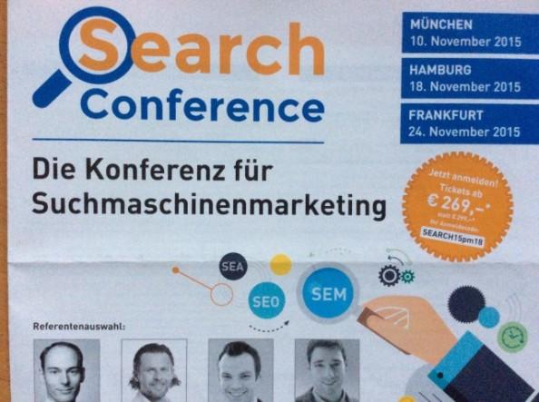 Freu` mich schon auf die Search Conferencemorgen…